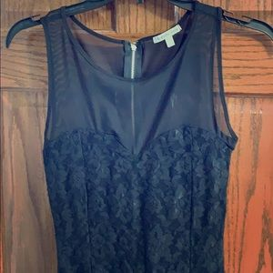 Charlotte Russe Black Lace Bodycon Small Dress